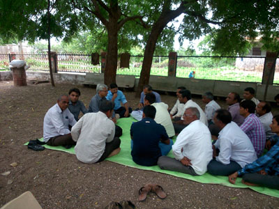 Gram Sabha (Village Meeting) at Village Lunidhar Ta. Amreli Dist. Amreli to Adopt the Village.