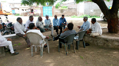 Gram Sabha (Village Meeting) at Village Virpur Ta. Dhari Dist. Amreli to Adopt the Village.