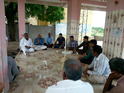 Gram Sabha (Village Meeting) at Village Laxmi Intala Ta. Lodhika Dist. Rajkot to Adopt the Village.