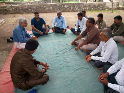 Gram Sabha (Village Meeting) at Village Nagar Pipaliya Ta. Lodhika Dist. Rajkot to Adopt the Village.