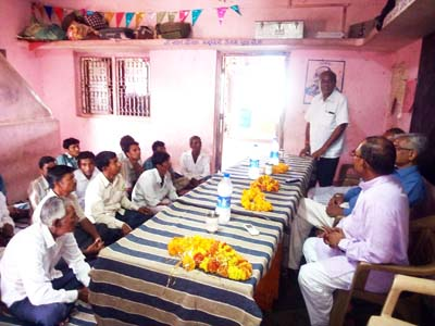 Gram Sabha (Village Meeting) at Village Palikhanda Ta. Sahera Dist. Mahisagar to Adopt the Village.